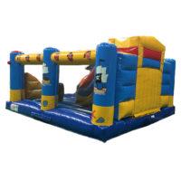 springkasteel met inside slide