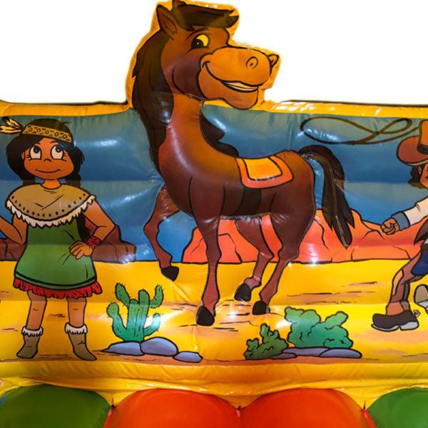 Cowboy & Indian Springkasteel Verhuur